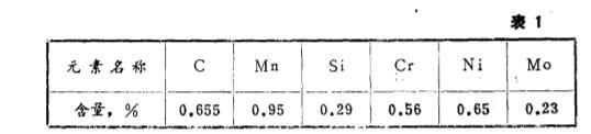 吊钳牙各元素含量 表1